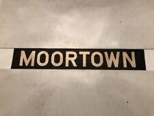 """Leeds Vintage Linen Bus Blind 60's 34""""- Moortown"""
