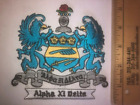 """Alpha Xi Delta 5"""" Embroidered Shield Crest Patch RETIRED FREE SHIP"""