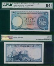Scotland 5 Pounds 1972/81 P337 REMAINDER Without Serial and Signa PMG 64 NET UNC