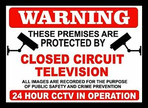 WARNING CCTV OPERATION,SECURITY,SAFETY PLASTIC SIGN BOARD A4 SIZE 300mm x 200 mm
