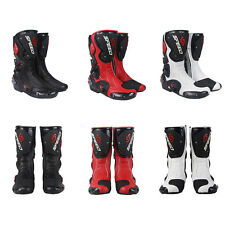 Motorcycle Boots Street Bike Racing Black Red White Size US 7 8 9 9.5 10.5 11