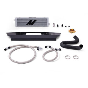 Mishimoto MMOC-MUS8-15T Oil Cooler Kit Fits Ford Mustang GT V8 2015-2017 Silver