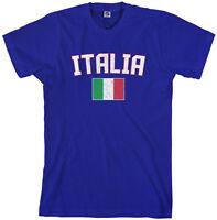Threadrock Men's Italia Flag T-shirt italy rome italian soccer