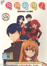DVD ToraDora TV 1-25 end (Tiger X Dragon) + Free Gift + Tracking ( Eng Dubbed)