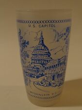 Vintage BEER Drink GLASS ~ WASHINGTON D.C. District of Columbia Monument Capitol