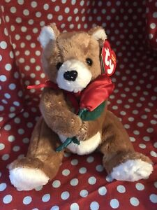 Ty Beanie Babies Always The Bear 2004 Red Rose. With Tags.