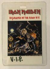 IRON MAIDEN 1990-1991  TOUR LAMINATED VIP  BACKSTAGE PASS