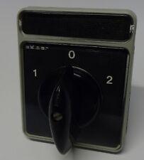 Schalter Nockenschalter S-212 Sälzer 3 Stufen 1-0-2 Wahlschalter 1 pol 3 stufig