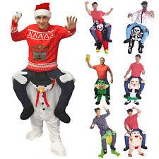 Snowman Piggyback Costume Funny Christmas Fancy Dress Xmas Party Self Fill Legs