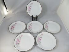 """Dawn Rose China Towne Fine Germany  Set of 6 Bread Plate Plates 6"""" EC NEED EXTRA"""