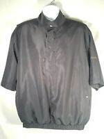 Footjoy Dryjoys Golf Pullover Wind Rain Jacket 1/2 Zip Mens Medium Black