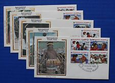"Marshall Islands (78-81) 1985 International Youth Year Colorano ""Silk"" FDCs"
