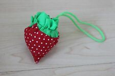 Faltbare Einkaufstasche Tragetasche Erdbeere umweltbewusstes Einkaufen