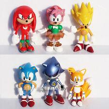 """Sonic The HEDGEHOG Characters PVC 2.2""""  6pcs Figure Set"""