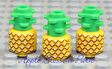 NEW Lego Lot/3 Minifig PINEAPPLE - Friends Kitchen Yellow Fruit Plant Food Set