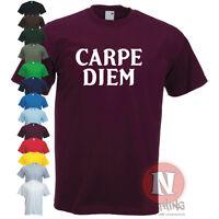 CARPE DIEM seize the day latin cool slogan motivational T-shirt