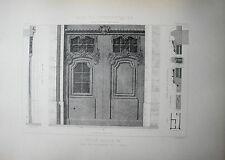 GRANDE PLANCHE XX° ARCHITECTURE STYLE LOUIS XIV BAROQUE RUE DES BILLETTES PARIS
