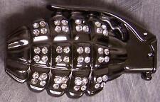Military Belt Buckle metal Rhinestone Hand Grenade NEW