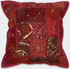 10Pc Lot Vintage Zari Work Cushion Cover Home Decor Modern Art Pillow Sham Cover