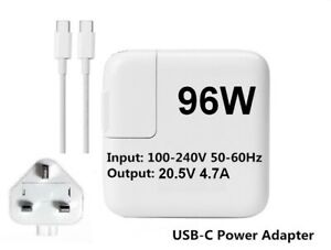 """ Genuine Refurbished Apple 96W MacBook Pro 13"""" 2016 2017 Charger A2166 A1708"""
