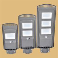 20W/40W/60W LED Radar Sensor Lamp Solar Powered Outdoor Street Road Light