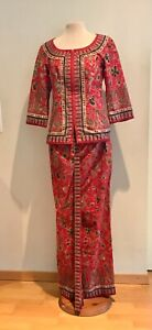 Original Singapore Airlines RED Chief Stewardess Uniform Obsolete
