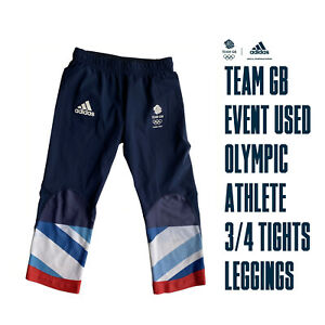 ADIDAS STELLA McCARTNEY TEAM GB OLYMPIC 3/4 PANTS / LEGGINGS Size 10