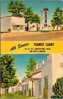 Postcard All States Tourist Court Motel Hotel in Decatur, Alabama~132311