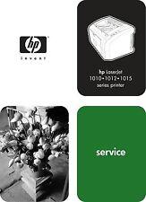 HP LaserJet 1010, 1012, 1015 Series - Service Manual/Parts & Diagrams PDF