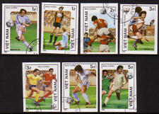 XG-A399 FOOTBALL - Vietnam, 1986 Mexico 86, 7 Stamps Imperf. Used CTO Set