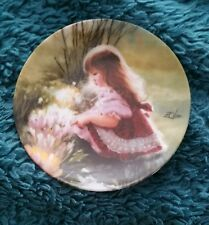 Vintage COLORS OF SPRING Miniature Plate - Childhood Discoveries - Donald Zolan