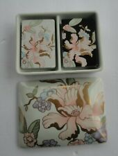 Art Nouveau Fitz Floyd Fleur Fantasia 2 Sealed Playing Card Decks Porcelain Box