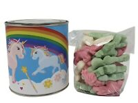 Kids Themed Reusable Money Tins with SWEETS - SUPER HERO UNICORN Money Box