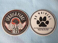 Beer Coaster: SPANISH PEAKS Brewing Co Black Dog Ale ~ Bozeman, MONTANA Est 1991