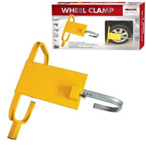 HEAVY DUTY CLAMP CAR VAN WHEEL SAFETY LOCK FOR CARAVANS TRAILERS SMALL TRUCKS