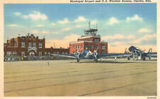 Vintage Postcard-Municipal Airport and U.S.Weather Bureau, Omaha NB