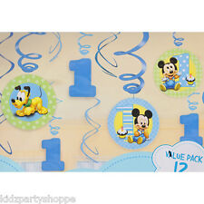 Disney Baby MICKEY Mouse SWIRL Hanging Decorations 1st Birthday Party Supplies