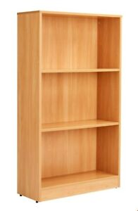 NEW BOXED - BOOKCASE 140CM WITH 2 SHELVES - BEECH - RRP £150