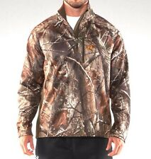 UNDER ARMOUR hunting JACKET Fleece Pullover Real Tree SMALL S Camo
