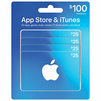 Apple iTunes App Store CANADA Gift Cards $25x4 - $100 Total Free Shipping!