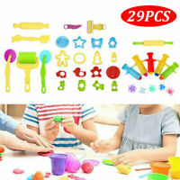 New 29Pcs Animal Shape, Model, and Mold Clay Activity Set, Modeling Dough Tools