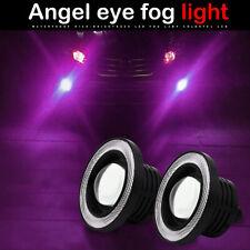 "3.5"" 4-Mode LED Fog Light Projector Driving Lamp COB Angel Eye Halo Ring Purple"