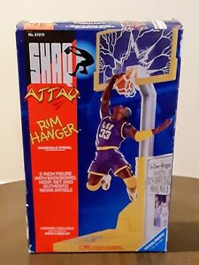 NEW SHAQ ATTAQ RIM HANGER LSU BASKETBALL ACTION FIGURE SHAQUILLE O'NEAL COLLEGE!