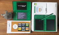 Nintendo DSi XL Green Boxed Handheld System Console Bundle +6 Games & Charger