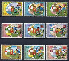 s5140) GUINEA ECUATORIAL 1974 MNH** World Cup Football -Coppa Mondo Calcio 9v