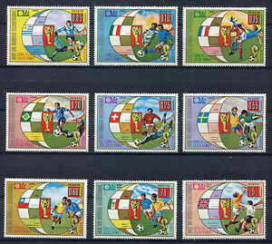 S5140) Guinea Ecuatorial 1974 MNH World Cup Football -coppa World Football 9v