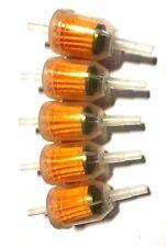 (5 FIVE) Small Engine GKI VW312 6mm-8mm 1/4 Plastic Inline Gas/Fuel Filter LOT