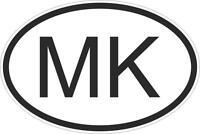 Autocollant sticker drapeau oval code pays voiture moto macedoine macedonien mk