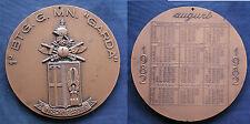 """MEDAGLIONE CALENDARIO 1982 1° BATTAGLIONE GENIO MINATORI """"GARDA"""" ESERCITO ITALIA"""
