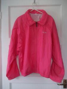 Ladies Vintage jacket Head Size L Pink Shell suit jkt Lightweight Lined RetroBR*